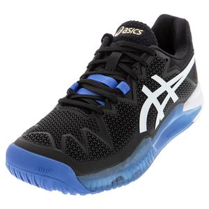 Men`s GEL-Resolution 8 Tennis Shoes Black and White