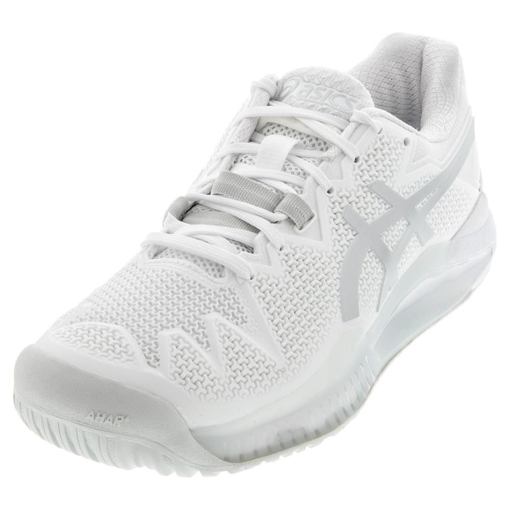 Men's Gel- Resolution 8 Tennis Shoes White And Pure Silver