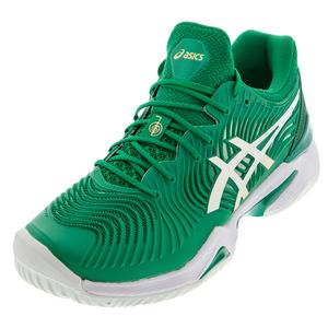 Men`s Court FF Novak Tennis Shoes Kale and White