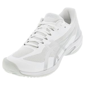 Men`s Court Speed FF Tennis Shoes White and Pure Silver