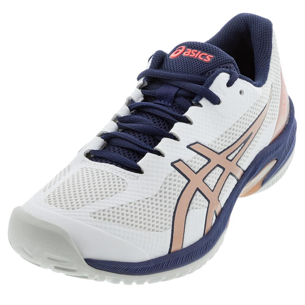 Women's Court Speed Ff Tennis Shoes White And Rose Gold