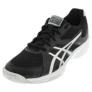 Men`s Upcourt 3 Squash Shoes Black and Pure Silver