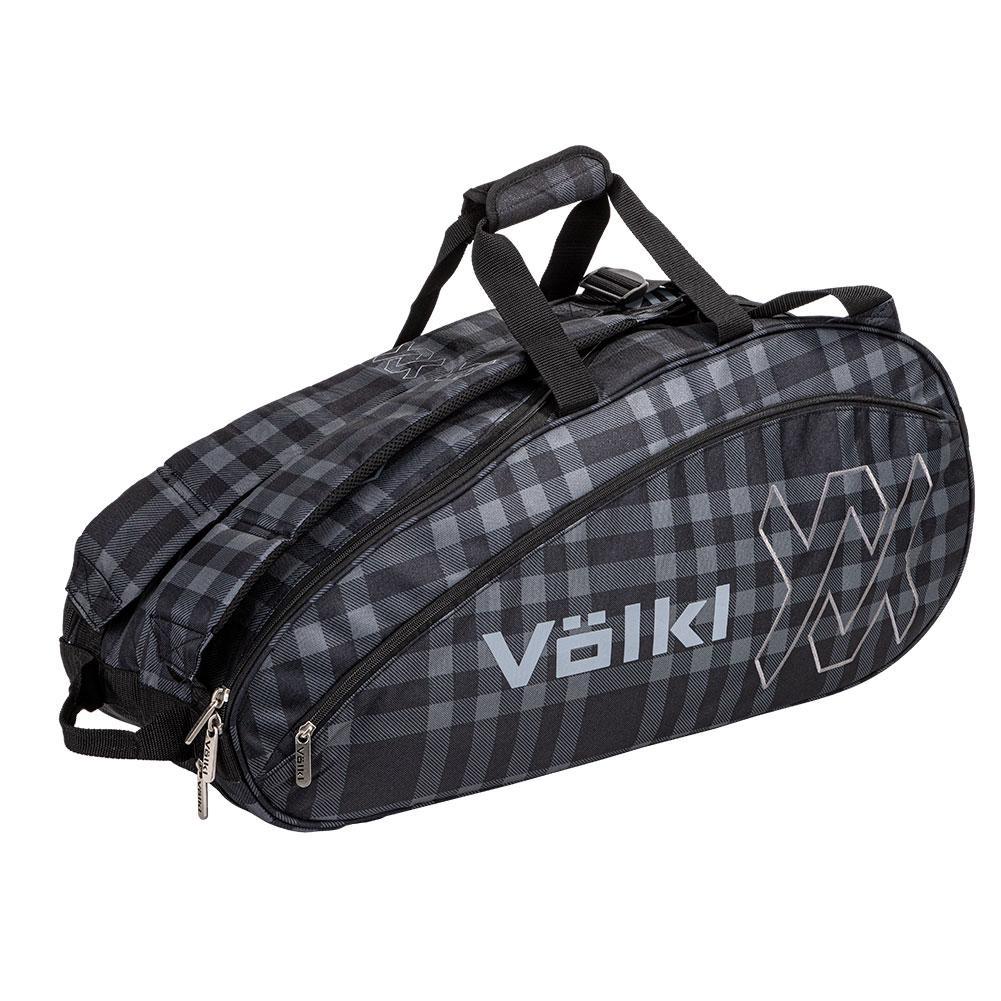 Team Combi Tennis Bag Black And Plaid