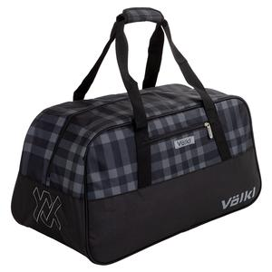 Team Duffle Tennis Bag Black and Plaid