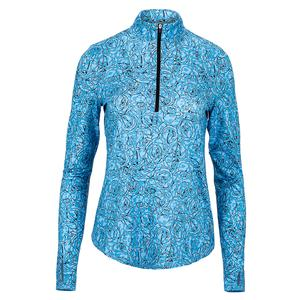 Women`s UV Mock Tennis Pullover Baileys Cheetah Print