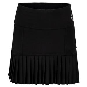 Women`s Knife Pleat Tennis Skort Black