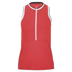 Women`s Aurora Tennis Tank Fiery Red