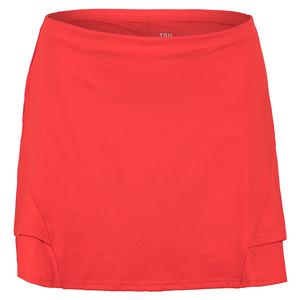 Women`s Hannah 13.5 Inch Tennis Skort Fiery Red