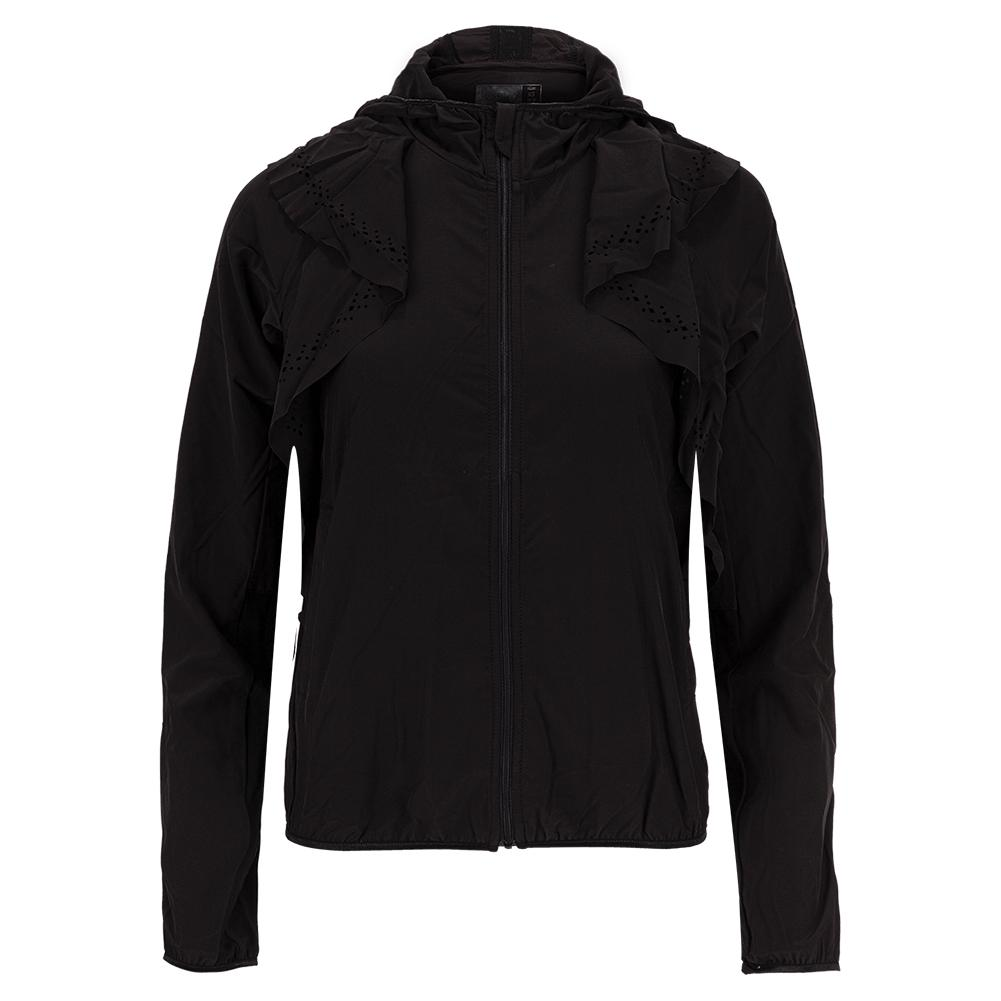 Women's Laser Flip Tennis Jacket Black