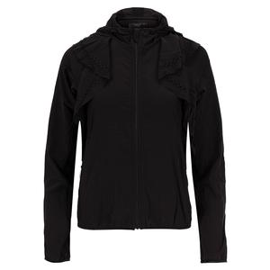 Women`s Laser Flip Tennis Jacket Black