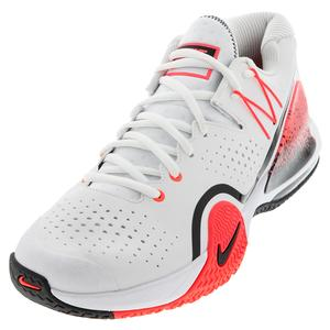 Men`s Tech Challenge 20 Tennis Shoes White and Hot Lava
