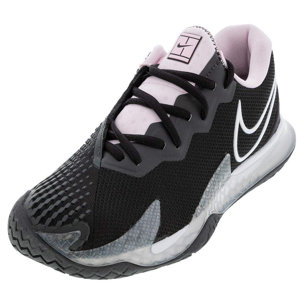 Women's Air Zoom Vapor Cage 4 Tennis Shoes Black And White