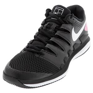 Women`s Air Zoom Vapor X Tennis Shoes Black and White