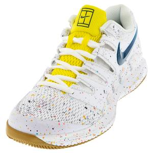 Women`s Air Zoom Vapor X Tennis Shoes White and Valerian Blue