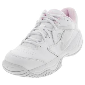 Women`s Court Lite 2 Tennis Shoes White and Photon Dust