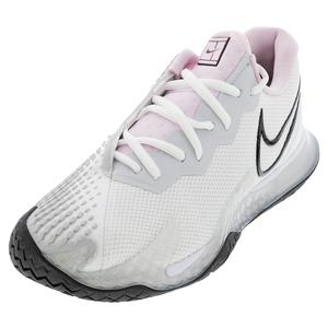 Women`s Air Zoom Vapor Cage 4 Tennis Shoes White and Black