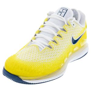 Women`s Air Zoom Vapor X Knit Tennis Shoes Opti Yellow and Bright Citron