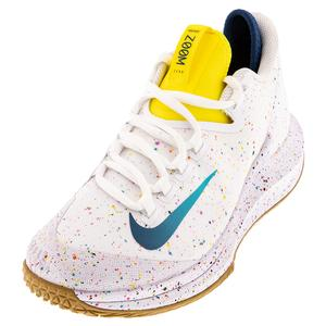 Women`s Air Zoom Zero Tennis Shoes White and Valerian Blue