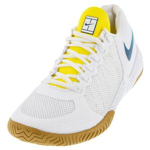 Women`s Flare 2 HC Tennis Shoes White and Valerian Blue