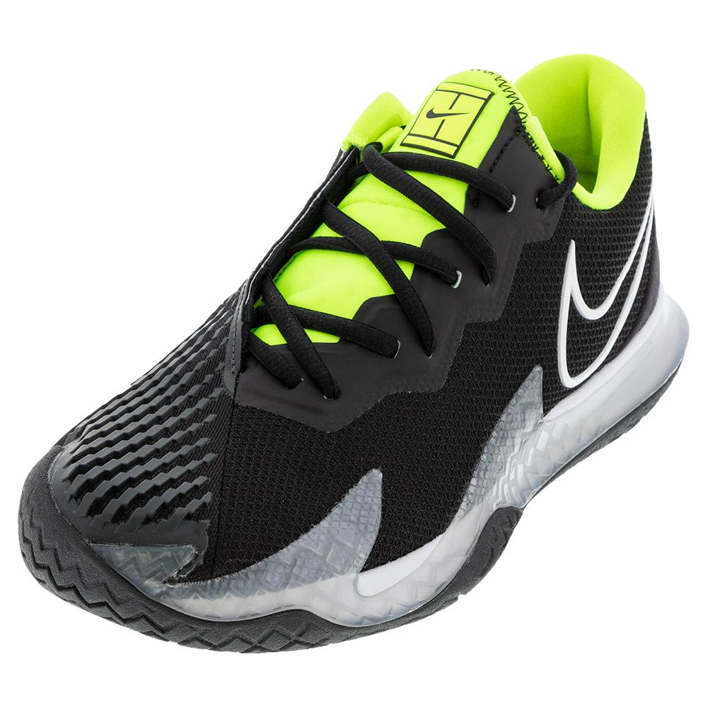 Men's Air Zoom Vapor Cage 4 Tennis Shoes Black And White