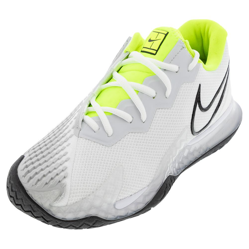 Men's Air Zoom Vapor Cage 4 Tennis Shoes White And Black