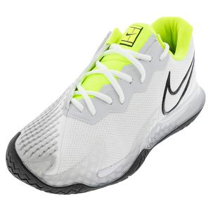 Men`s Air Zoom Vapor Cage 4 Tennis Shoes White and Black