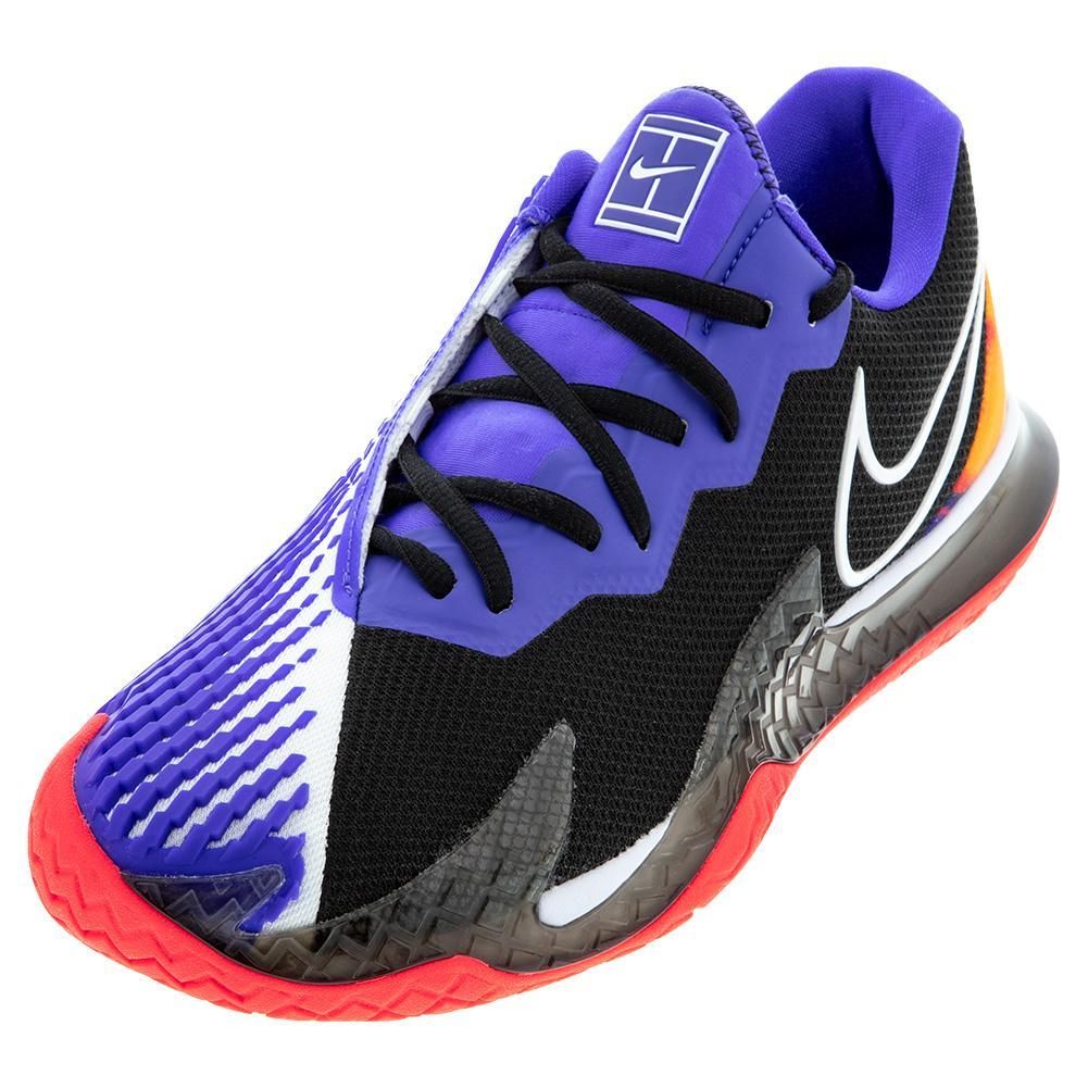 Women's Air Zoom Vapor Cage 4 Tennis Shoes Black And Laser Crimson