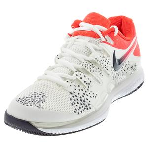 Women`s Air Zoom Vapor X Tennis Shoes Summit White and Laser Crimson
