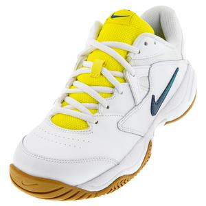 Women`s Court Lite 2 Tennis Shoes White and Valerian Blue