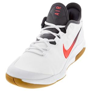 Men`s Air Max Wildcard Tennis Shoes White and Laser Crimson