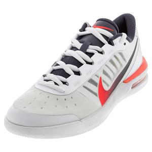 Men`s Air Max Vapor Wing MS Tennis Shoes White and Laser Crimson