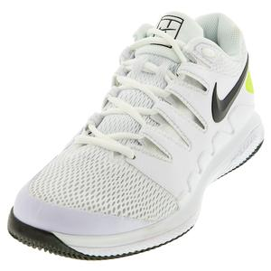 Juniors` Vapor X Tennis Shoes White and Black