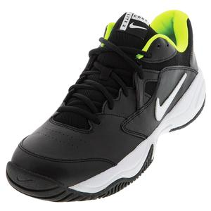 Juniors` Court Lite 2 Tennis Shoes Black and White