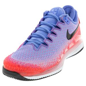 Women`s Air Zoom Vapor X Knit Tennis Shoes Royal Pulse and Flash Crimson