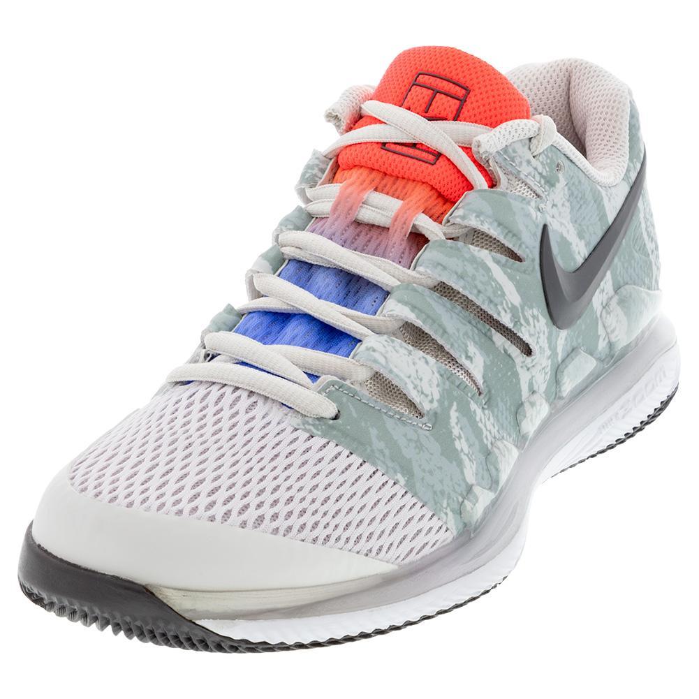Women's Air Zoom Vapor X Tennis Shoes Platinum Tint And Thunder Grey