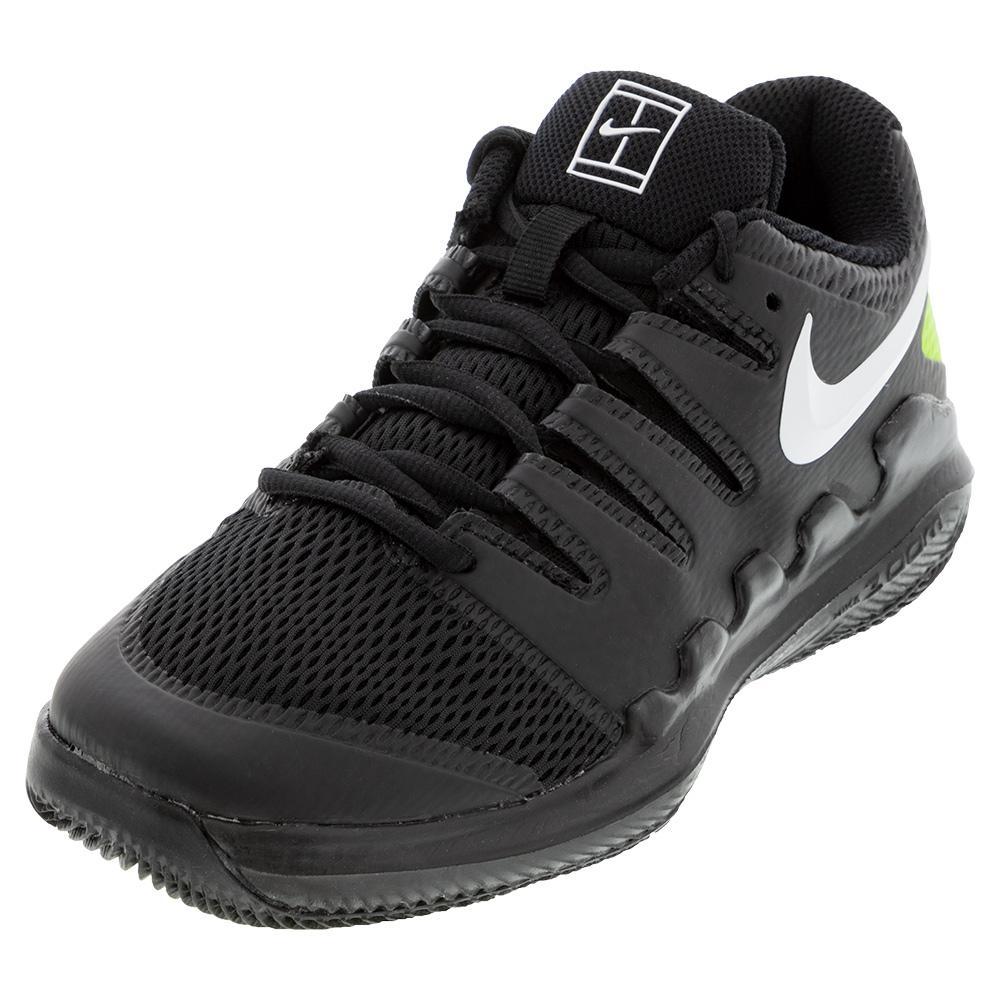 Juniors ` Vapor X Tennis Shoes Black And White