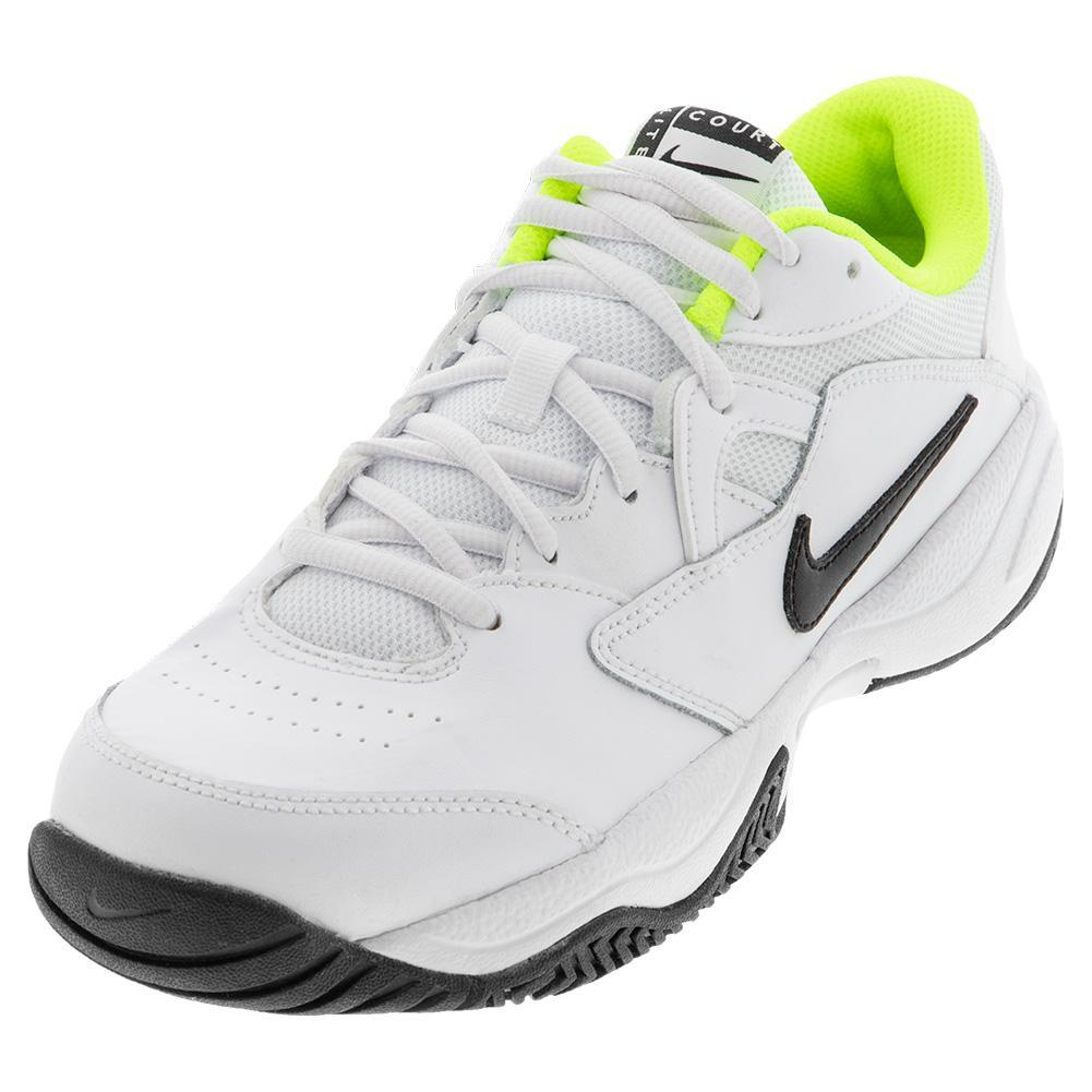 Juniors ` Court Lite 2 Tennis Shoes White And Black