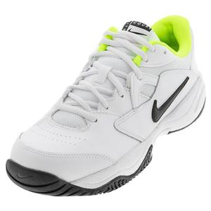 Juniors` Court Lite 2 Tennis Shoes White and Black