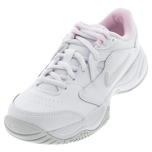Juniors` Court Lite 2 Tennis Shoes White and Photon Dust