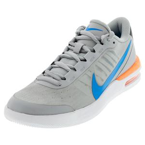 Men`s Air Max Vapor Wing MS Tennis Shoes Light Smoke Grey and Blue Hero