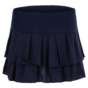 Women`s Wavy Pleat Tier Tennis Skort Midnight