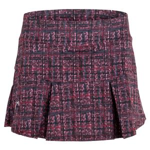 Women`s Baseline Pleated Tennis Skirt Garnet Hatch