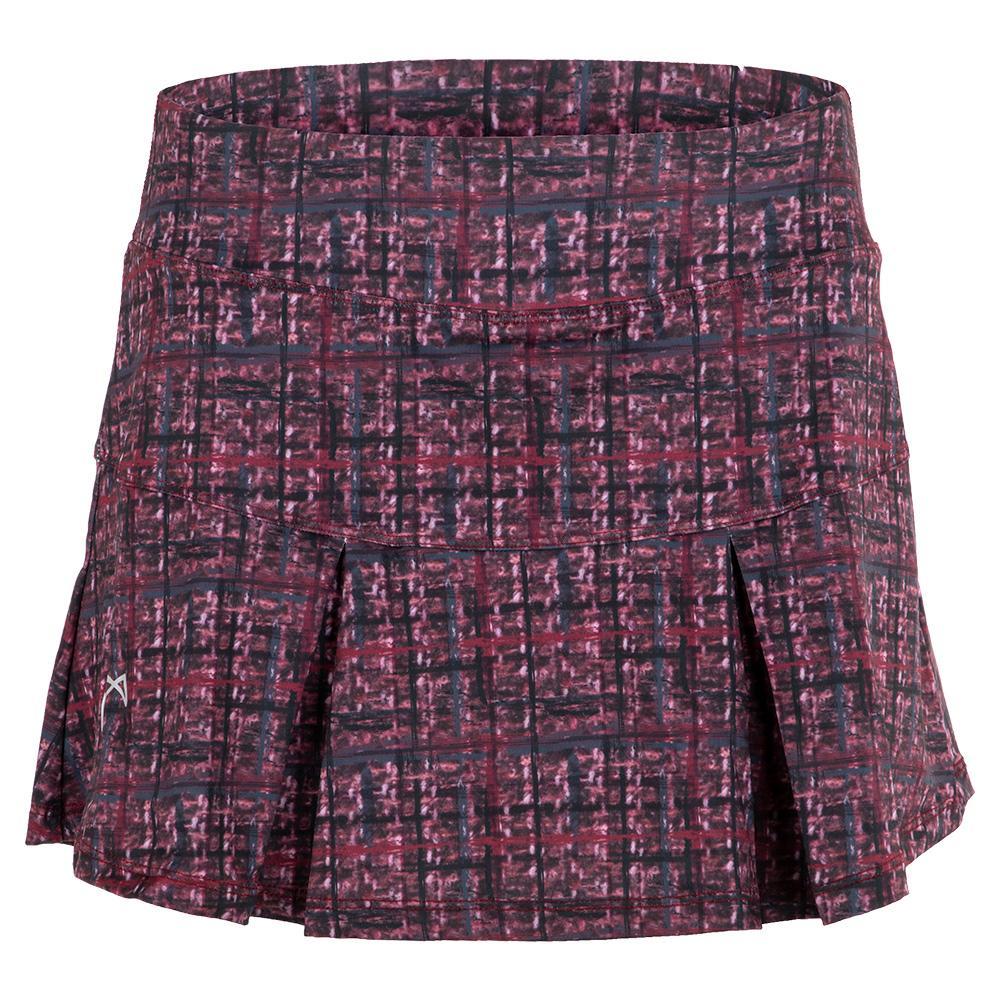Girls ` Baseline Pleated Tennis Skirt Garnet Hatch