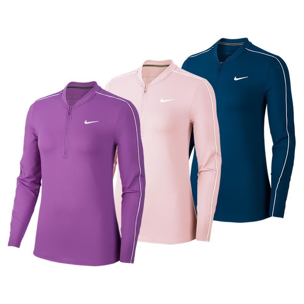 Women's Court Dry Long Sleeve Half Zip Tennis Top