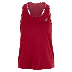 Women`s Ace Sports Tank Garnet and Appaloosa