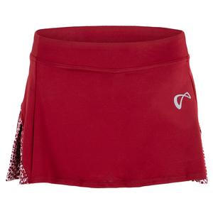 Women`s Action Pleated Tennis Skort Garnet and Appaloosa