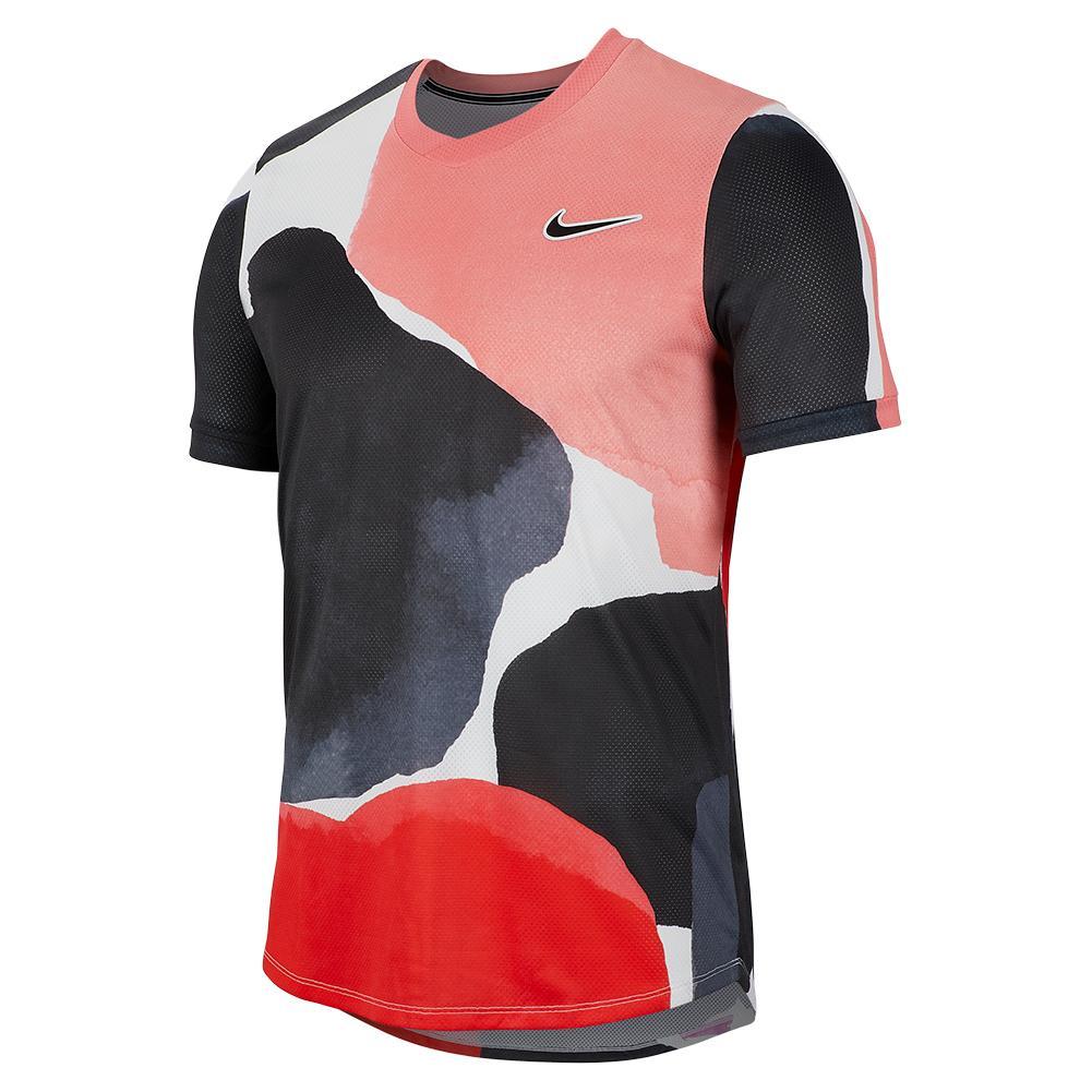 Men's Melbourne Team Court Challenger Short Sleeve Tennis Top