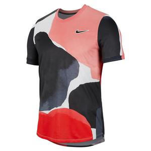 Men`s Melbourne Team Court Challenger Short Sleeve Tennis Top
