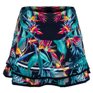 Women`s Long Cabana Pleated Tennis Skort Midnight