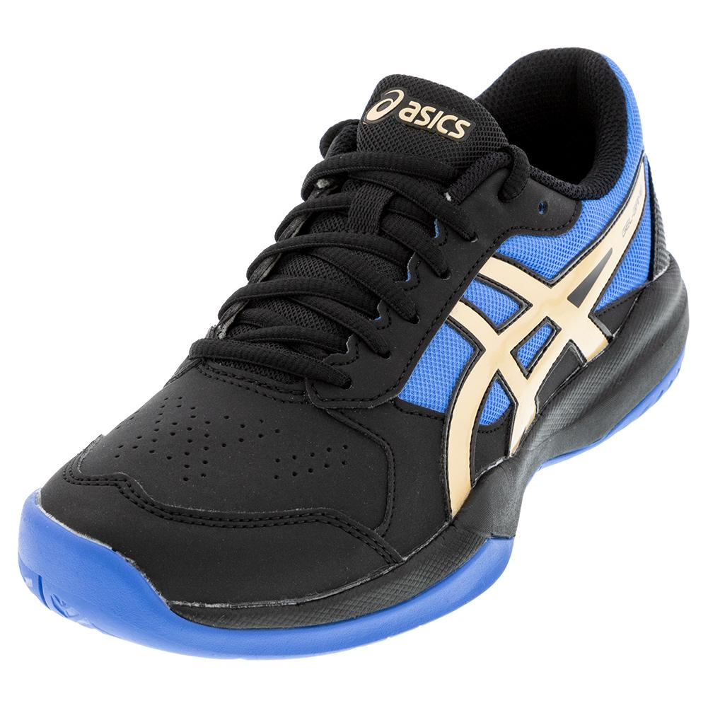 Juniors ` Gel- Game 7 Gs Tennis Shoes Black And Champagne